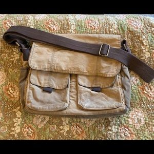 Fossil Wagner canvas messenger bag